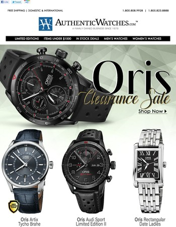 VIP Early Access Oris Sale!