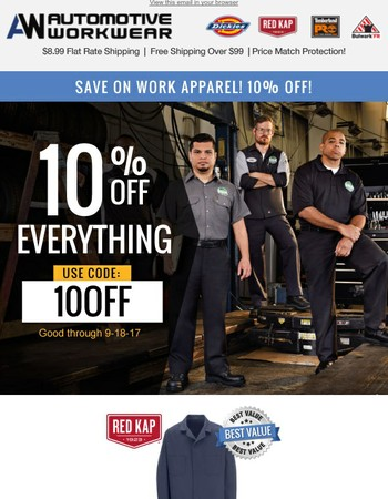 Save 10% off everything!
