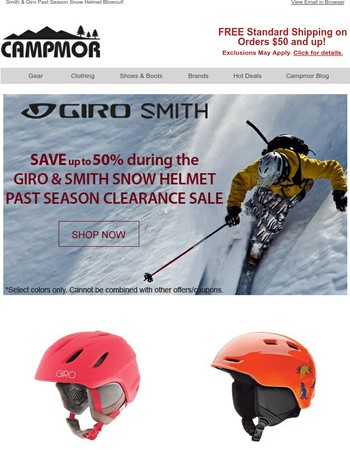 Smith & Giro Past Season Snow Helmet Blowout!