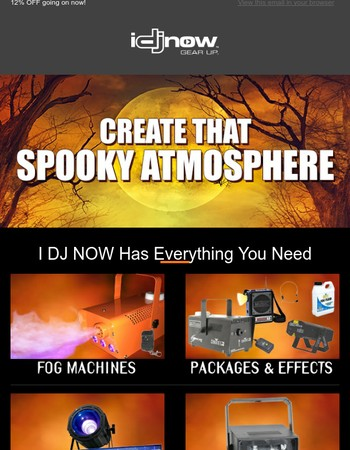 Gear Up for Halloween with spooky packages