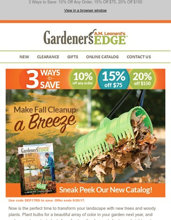 Sneak Peek Our New Fall Catalog & Save up to 20%
