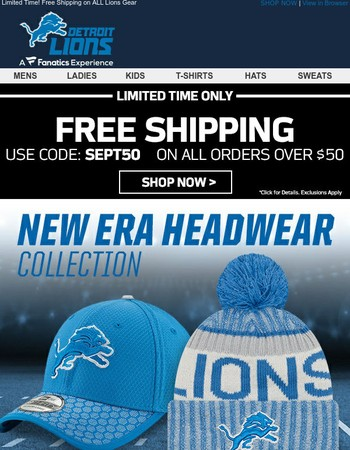 The Latest Lions Styles from New Era