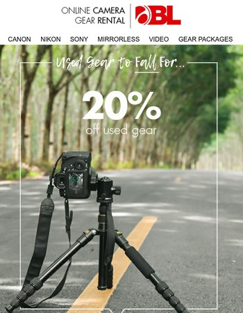 Used Gear 20% Off Clearance Sale