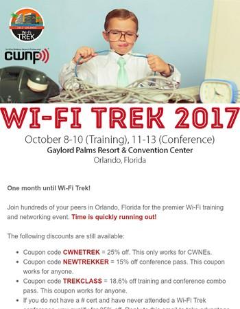 Wi-Fi Trek 2017 Orlando - October 8-13