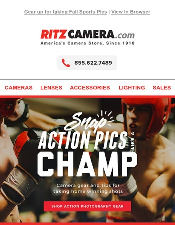 YES! Winning camera gear for sports and action shots