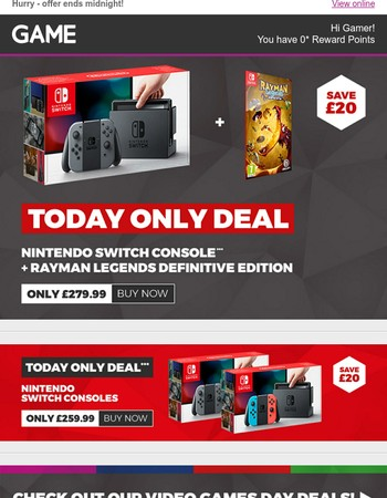 Ninten-DO get your hands on our awesome SWITCH deals! #videogamesday!