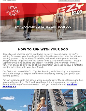 Let's Get Specific on Running with Your Dog