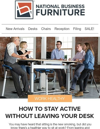 4 ways to help you stay active at work.