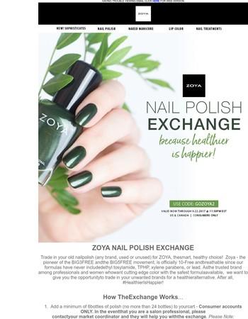 Zoya Nail Polish Exchange Is BACK!