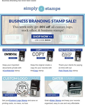 Perfect Branding Stamps for your Business