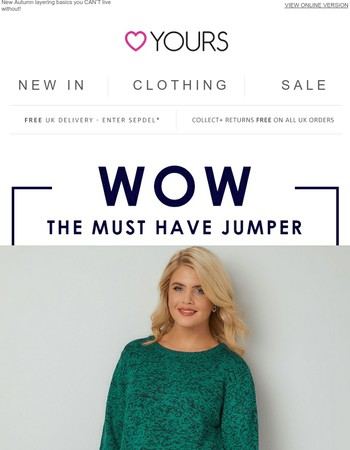 The £14.99 jumper: It's back & selling fast