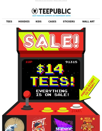 Beat your high score in the sitewide SALE!