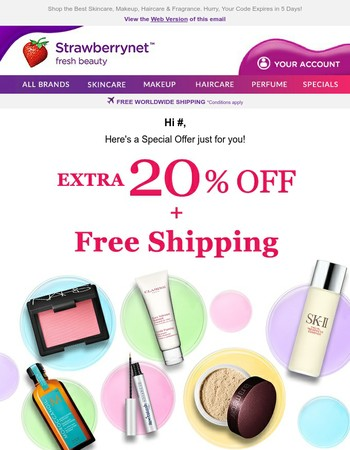 Mary, Take this Secret Extra 20% Off + Free Shipping Offer!