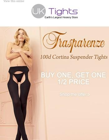 Buy 1 Get 1 Half Price Trasparenze 100d Cortina Suspender Tights