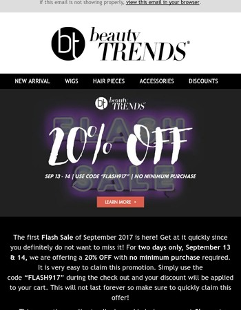 Another Flash Sale from BeautyTrends! ⚡