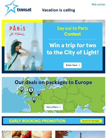 air transat offers from newsletters