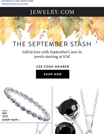 September's stash of NEW ARRIVALs is here!