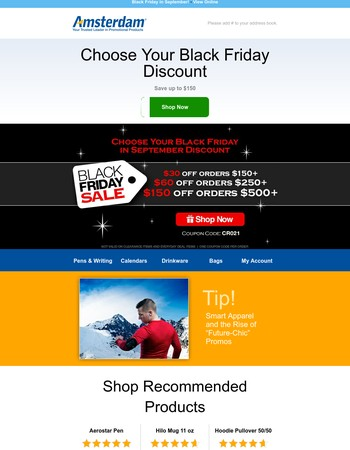 Black Friday is Early! Choose Your Own Discount Today!