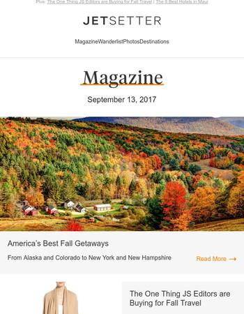America's Best Fall Getaways
