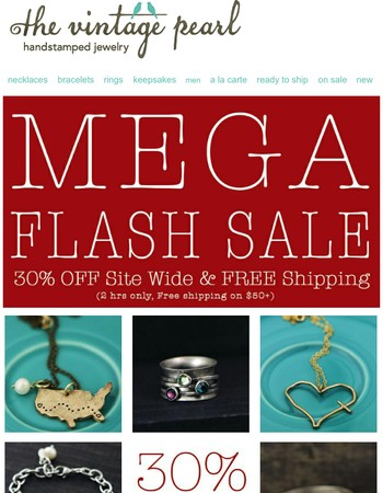 2 Hour Mega FLASH Sale {+Free Shipping}