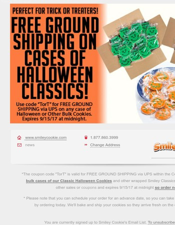 Bulk Cases Of Halloween Cookies SHIP FOR FREE!