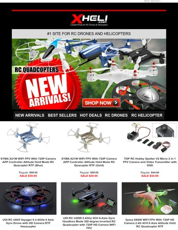 Just In!  Newest & Hottest Drones Here!