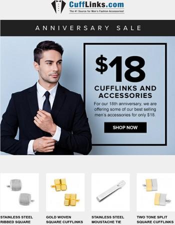 We're celebrating 18 years of CuffLinks!