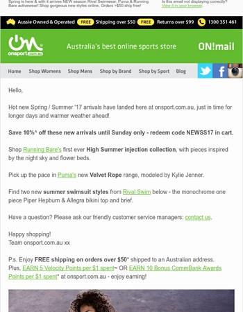 Onsport Newsletter
