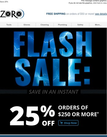 Flash Sale! Save 25%-5 Hours Only
