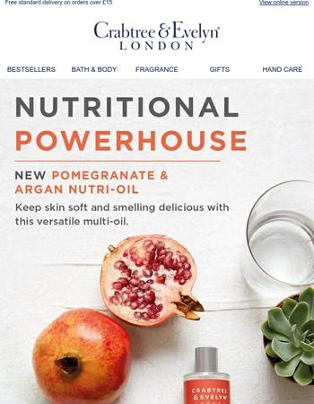 Nutritional Powerhouse   NEW Pomegranate & Argan Oil