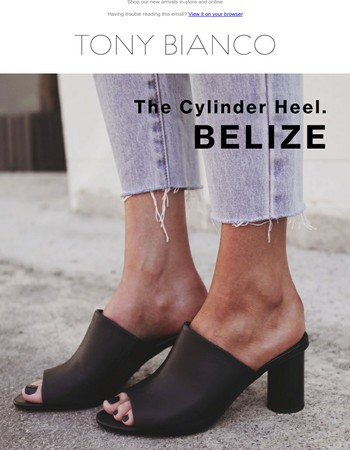 Cylinder heels. They're a thing