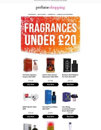 Trending Fragrances under £20