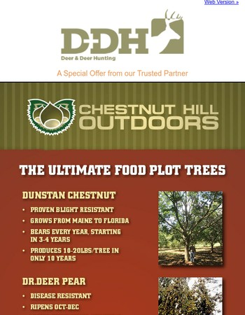 Chestnut Hill Outdoors: The Ultimate Food Plot Trees
