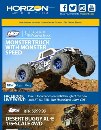 It's Coming - The New Losi 1/8 LST 3XL-E  4WD Monster Truck