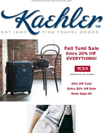 20% Off All Tumi (Yes, Even SALE Items!)