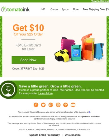 $20 Offer Saves You Some Green