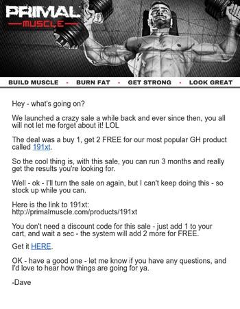 hGH - Buy 1... GET 2 FREE!
