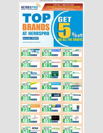 Top Brands At Herbspro - Additional 5% OFF