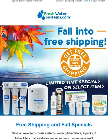 Fall for these Deals + Free Shipping!