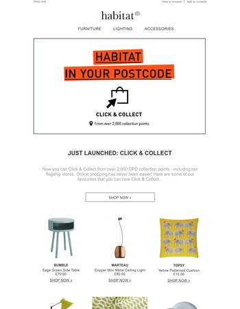 New: Click & Collect | Pick up from over 2000 UK collection points