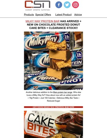Milky Way Protein Bar Has Arrived + NEW ON Cake Bites + Clearance Stock