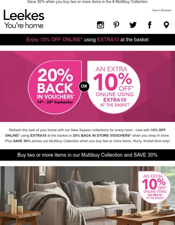Enjoy 10% OFF your online purchase*