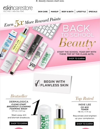 Beauty Lessons You Need. Earn 5X Reward Points!