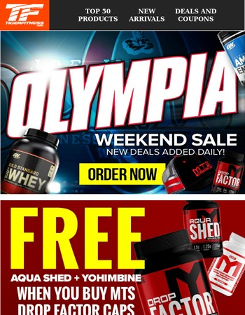 Olympia Sale Starts NOW - New Deals Added Every Day!