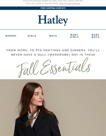 Our women's fall wardrobe essentials work as hard as you do