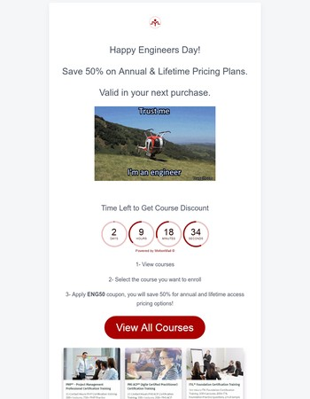 Happy Engineers Day - Save 50%