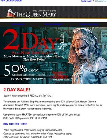Dark Harbor 50% Off 2Day Sale