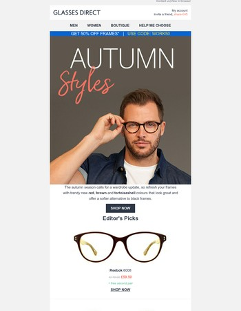 Trendy new styles for autumn
