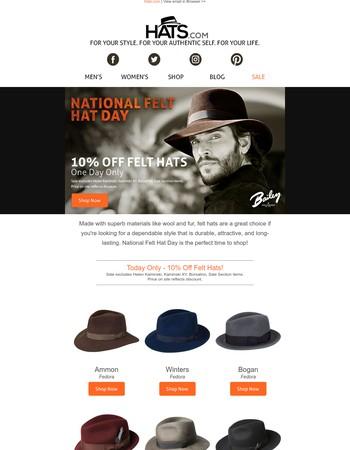 Celebrate National Felt Hat Day