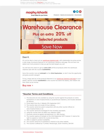 Mary, Our warehouse clearance sale just got BIGGER!